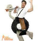 Adult Ostrich Step In Costume Bird Animal Fancy Dress Outfit New
