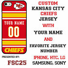 Custom KANSAS CITY CHIEFS Phone Case Cover w Your Name & Jersey Number IPhone