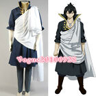 Fairy Tail The Black Wizard Zeref Dragneel Cosplay Costume Outfit Robe Suit Cape