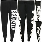 Casual Ladies Jogging Bottoms Womens Track Pants Brooklyn Print Sweat Trousers