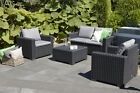 Allibert California Graphite Grey Mix + Match Chairs Sofas Tables Free Delivery