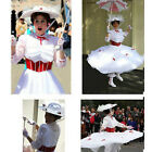 Movie Mary Poppins Dress Princess Costume Adult Women Cosplay Costume