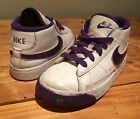 Girl's Nike, US Shoe Size (Youth) 9 Purple And White Hightop Shoes