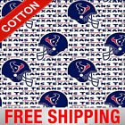"Houston Texans NFL Cotton Fabric - 60"" Wide - Style# 6188 - Free Shipping!! $15.95 USD on eBay"