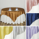 "20 SATIN SQUARE 90x90"" TABLE OVERLAYS Wedding Party Prom Catering Decorations"