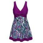 Women Purple Swimwear One Piece Swimsuit Beach Swim Dress US Size 20 18 16 14 12