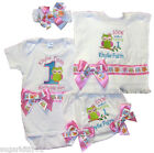 Personalized Birthday Girl Set, Onezee, Bloomer, HB & Bib Owl Design