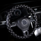 5 Colors Diamond Quilted Stitching Pattern Leather Car Steering Wheel Cover