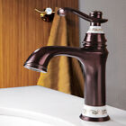Traditional Style Single Hole Bathroom Sink Faucets Solid Brass Vessl Faucet Tap