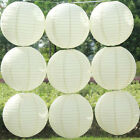"10pcs 4""8""10""12""14""16"" Lot White Color Paper Lanterns Wedding Party Decoration"