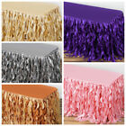 "14 feet x 29"" Taffeta Curly Banquet TABLE SKIRT Party Wedding Booth Decorations"