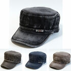 NWT Vintage Garment Washed Mens Cotton Cap Military Hats Army Cadet 4 Colors