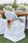 100/Pc Folding Polyester Chair Covers Wedding Party Banquet 3 Colors Free Ship!