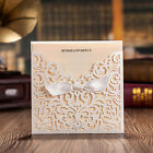 White Lace Wedding Invitations Cards, Envelopes Seals, Personlized Printing