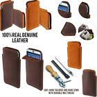 For HTC Desire 826 Slim Sleeve Genuine Real Leather POUCH Case Cover + Pen
