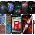 For LG Optimus L70 MS323 Mandala Galaxy PATTERN HARD Case Phone Cover + Pen