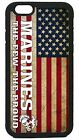 USMC Marines Marine Corps Proud US Flag iPhone 4 4s 5 5s 5c 6 6 Plus Case Cover