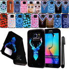 For Samsung Galaxy S6 Edge G925 ShockProof HYBRID Rugged HARD Case Cover + Pen