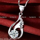 StoreInventory925 sterling silver angel wings necklace pendant chain jewelry birthday gift