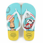 Havaianas Unisex Snoopy Rubber Slip On Flip Flop White