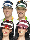 Adults 1980s Sun Visor Mens Ladies Neon Fancy Dress Accessory Womens 80s Workout