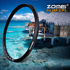 ZOMEI 52/58/62/67/72/77/82mm Ultra Slim CPL Circular Polarizing Filter For Camer