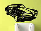 Classic Race Car Chevy Wall Mural Vinyl Sticker Decal