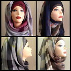 New Arrival Ombre Plaid Hijab Scarf Classis Shawl Nice Colors