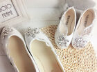 Wedding Flower Girl Shoes Ballet Flats Wedding Vintage Lace Wedding Baby Shoes