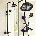 Wall Mount Tub Shower Faucets Antique Black Exposed Shower System Free Shipping
