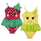Baby Girls Fruit Swimming Costume Toddlers Swimwear Infants Swim Dress Size