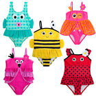 Cute Baby Girls Novelty Character Swimming Costume Toddlers Swim Suit Dress Size