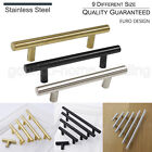 ∅12mm Stainless Steel T Bar Kitchen Cabinet Door Pull Handles Drawer Knobs+Screw