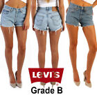 Vintage Levis Shorts Womens High Waisted Denim Hotpants Jeans Grade B Size 6-18