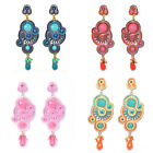 Swirl Bubbles Fashion Design Vintage Seed Crystal Chadelier Dangle Stud Earrings