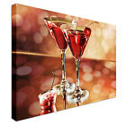 Red Cocktail In A Martini Glass Canvas Wall Art prints high quality