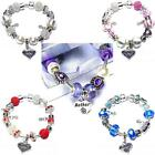Finished Mum Mother Birthday Gift Box Silver European Charm Bracelet Charm Beads