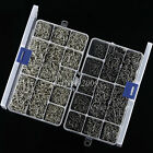 2000pcs 10 Sizes Black Silver Fish Fishing Sharpened Hooks Lures With Tackle Box