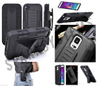 Heavy Tough Armor Stand Case W/Belt Hook Clip Fo Samsung S6, S7, Nexis, Apple iP