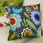 VELVET PILLOW COVER Big Blooms FOLK ART ABSTRACT Various Sizes Karla Gerard