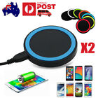 2x Qi Wireless Charger Charging Pad for Samsung Note4 S6 S7 HTC Nexus iPhone 6