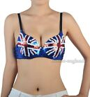 British UK Flag Bra Dancewear Party Blue Red White Sequin Top  CE S8002_UK