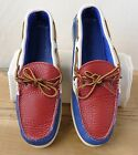 Yuketen Camp Moccasin Red White & Blue w/ Boat Sole (See Sizes)