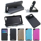 4 Colors Windows PU Stander Thin Flip Pu Cover Case For BLU Dash M2