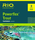 Rio Powerflex Trout Tapered Leader 9ft - 3pk,  3X