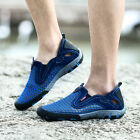 Men's Breathable Mesh Walking Sport Shoes Casual Slip On Water Shoes