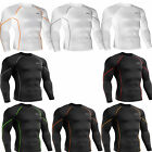 Mens Womens UV cut Compression skin tight shirts Base layer rash guard Top S~2XL