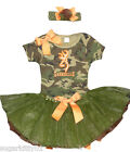 Personalized Baby Girl Woodland Camouflage Onezee and Tutu Set w/HB Free Ship
