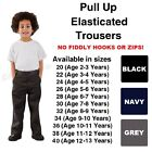 Boys Pull Up School Trousers Ages 2 3 4 5 6 7 8 9 10 11 13 Elasticated Back