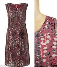 New White Stuff Pink Scoop Neck Sleeveless Lined Casual Tea Dress Size 10 - 18